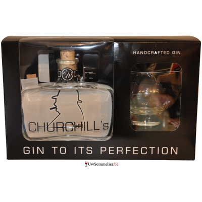 Churchill's gin + 2xtonic + glas